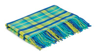 Tartan Wool and Angora Baby Blanket